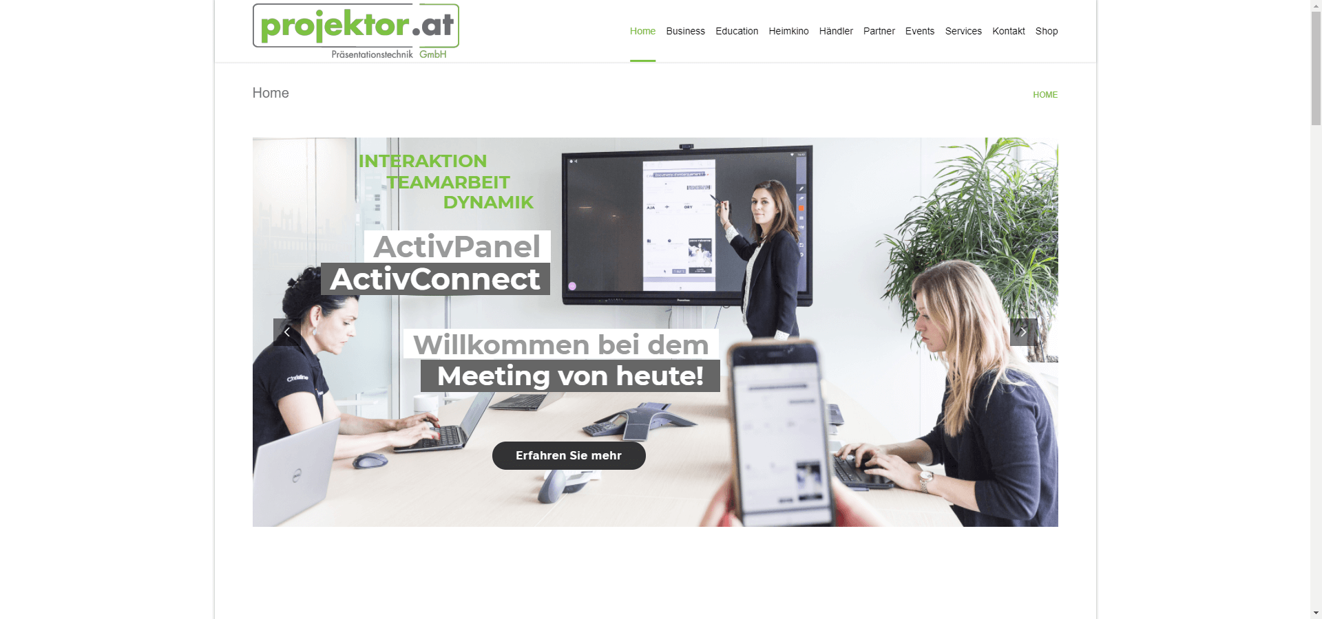 Consulting by Tridentconsulting: Projektor.at