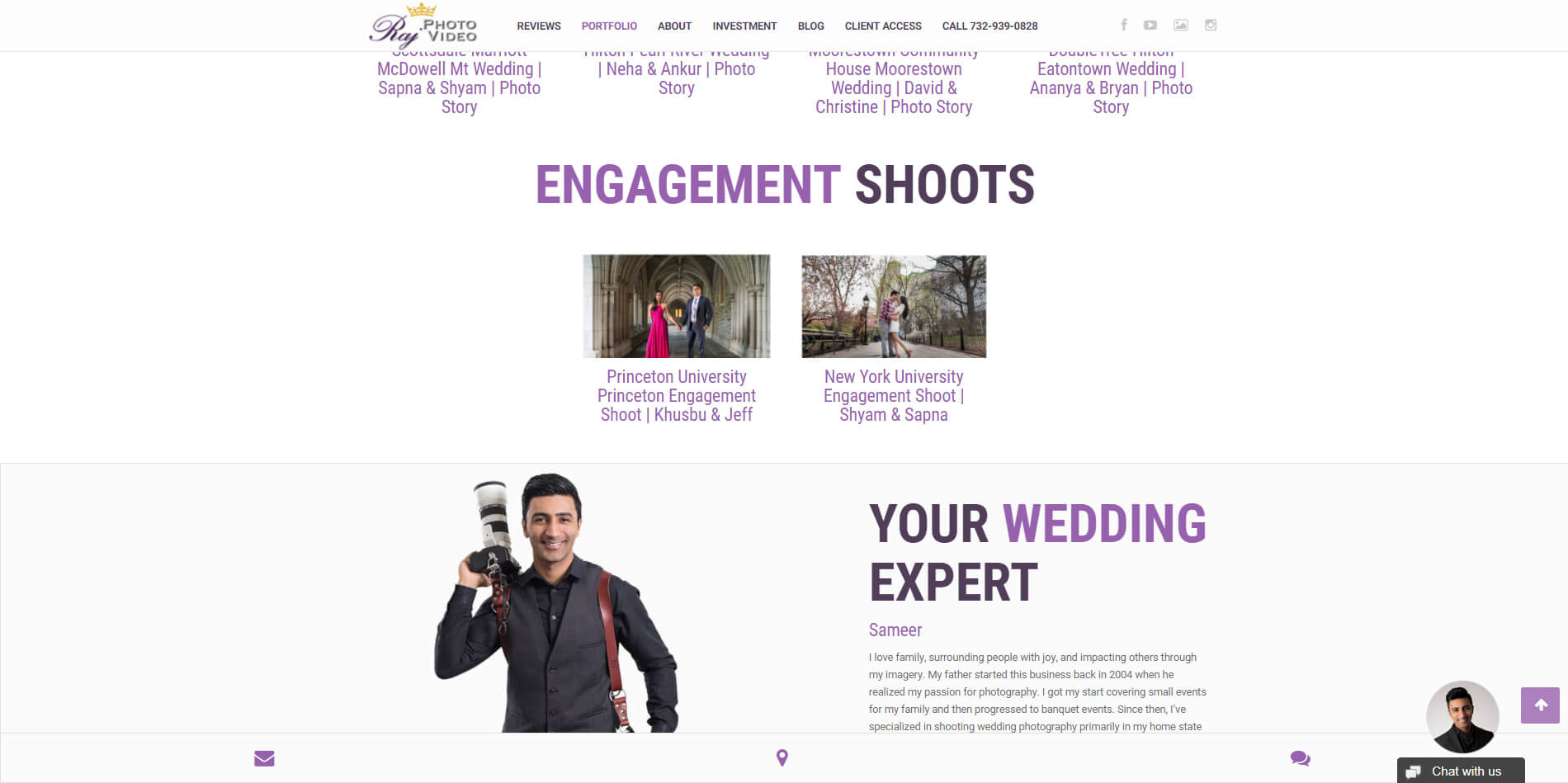 Modern and Responsive Webdesign for rajphotovideo.com